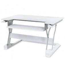 WorkFit-T, Sit-Stand Desktop Workstation (White)