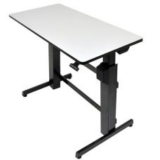 WorkFit-D, Sit-Stand Desk (Light Grey)